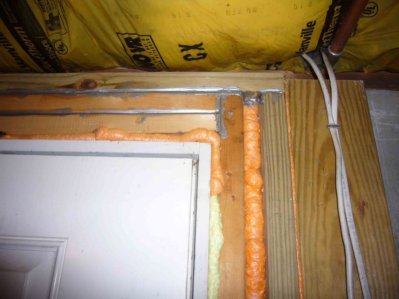 Basement door air sealing